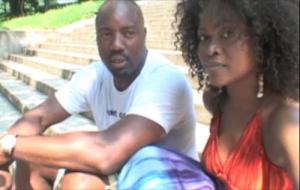 Malik Yoba and Abiola Abrams