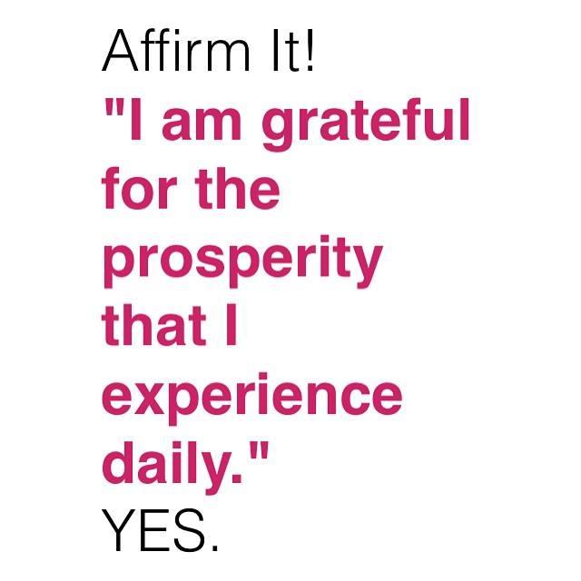 affirmation abundance