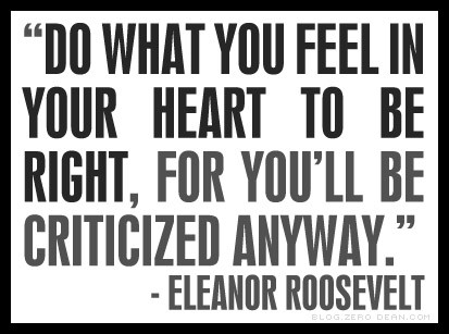 Do what you feel is right...