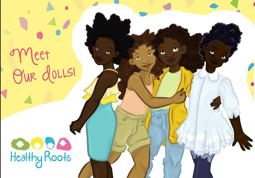 healthy natural hair dolls
