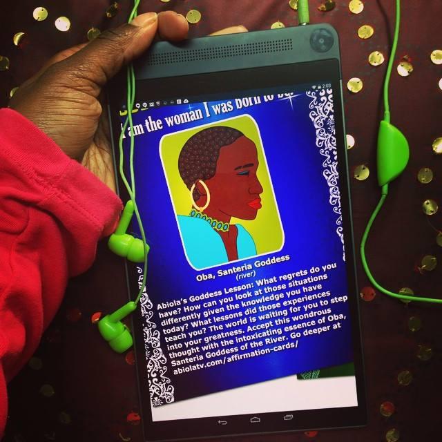 spiritpreneur african goddess affirmation cards intel