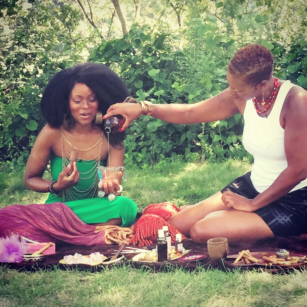 Abiola and Nikki Mixing the Elixir