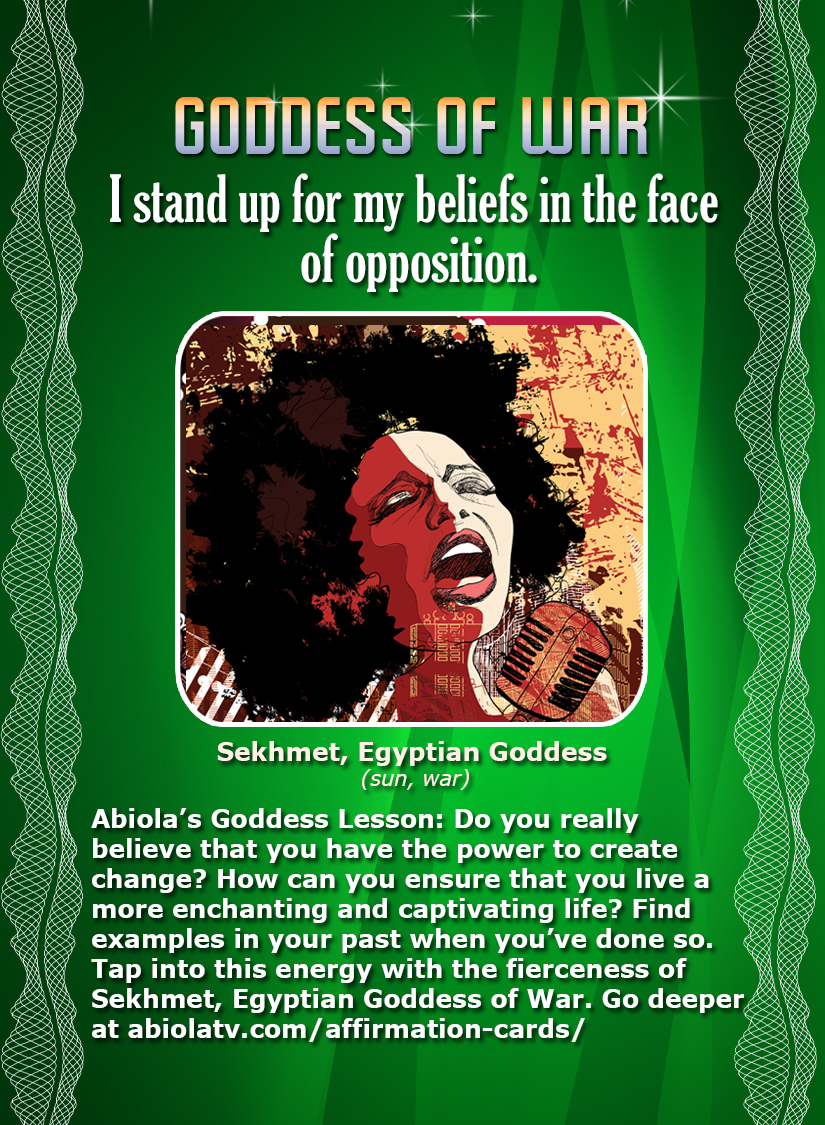 Goddess of War - African Goddess Affirmation Card
