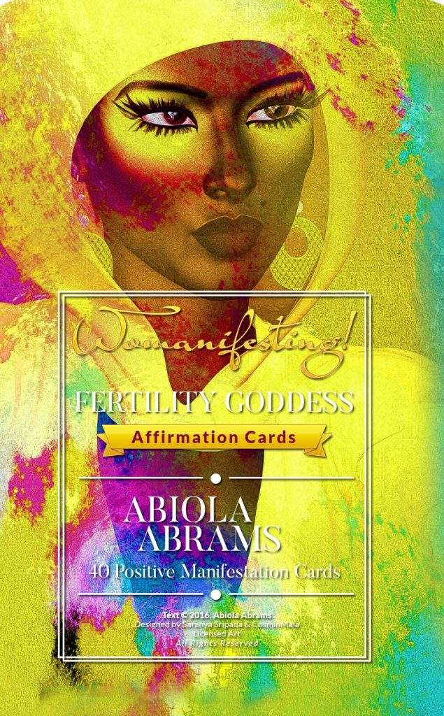 Womanifesting Goddess Affirmation Cards - Fertility Manifesting Cards