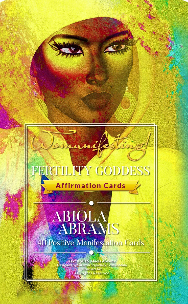 Womanifesting Fertility Goddess Affirmation Oracle Cards