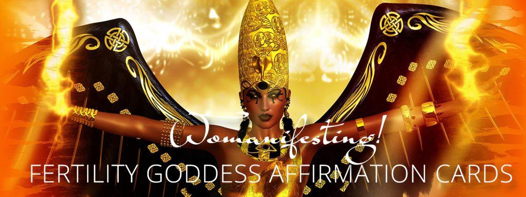 Fertility Goddess Affirmation Cards Backdrop