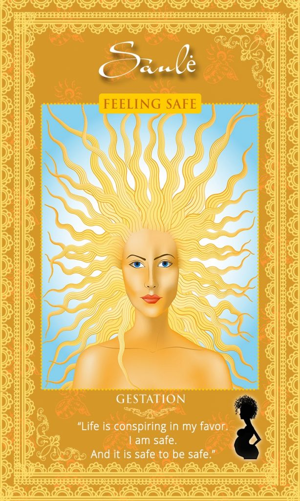 Saule Sun Goddess - Affirmation Card