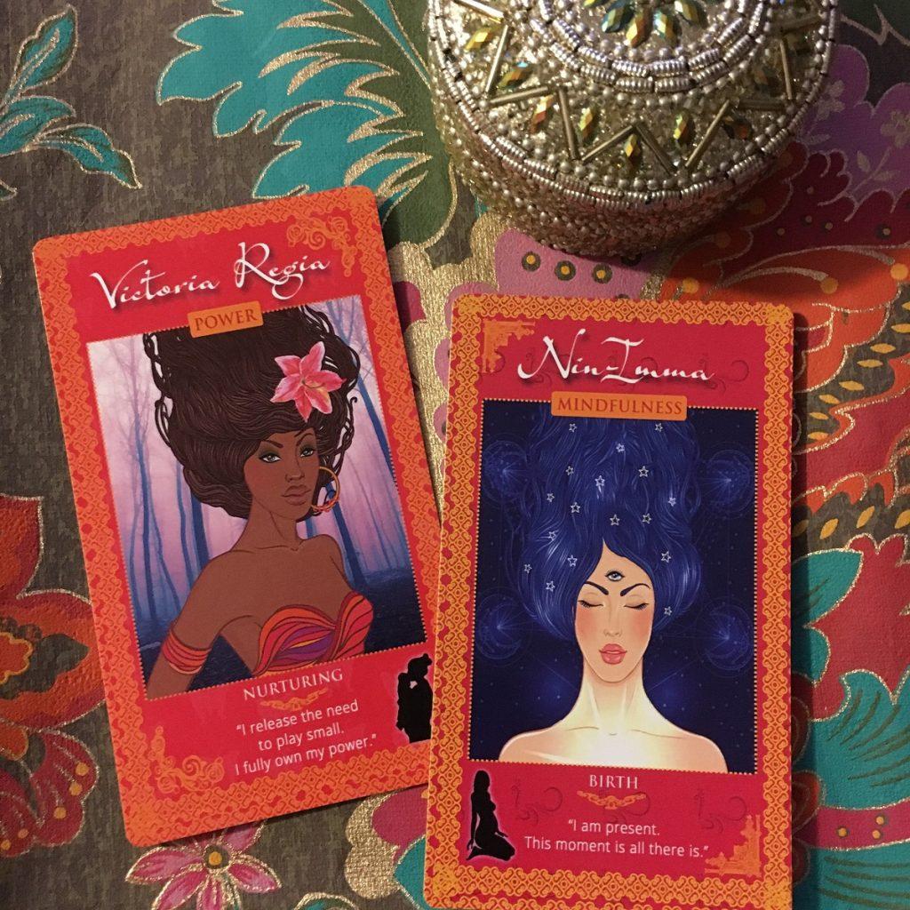 Womanifesting Goddess Cards Ninimma Victoria Regia
