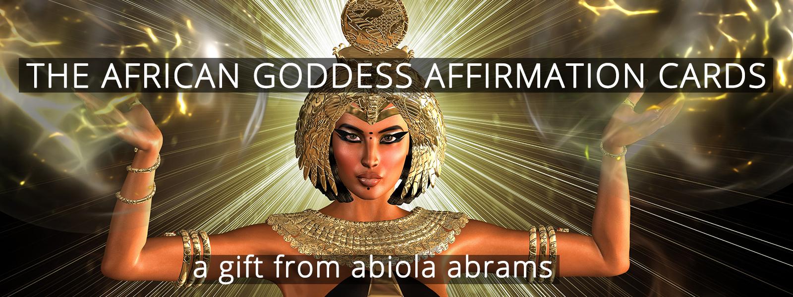African Goddess Affirmation Cards Backdrop