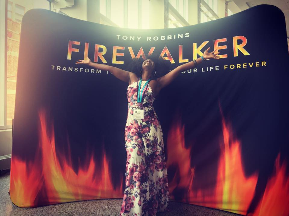 Tony Robbins Fire Walk Abiola Firewalker - Money and Spirituality