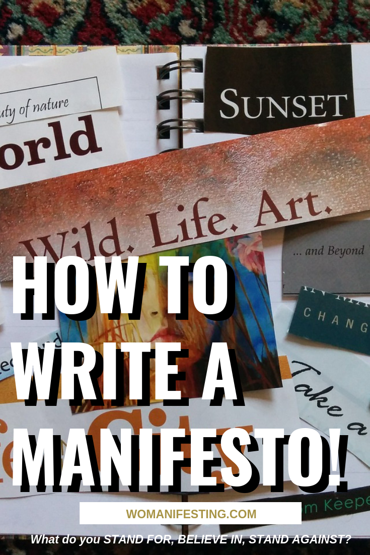 How to Write a Manifesto