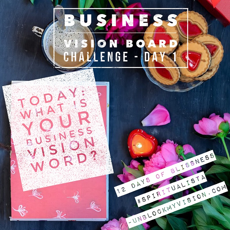 Business Vision Board Challenge - New Year's Blessing