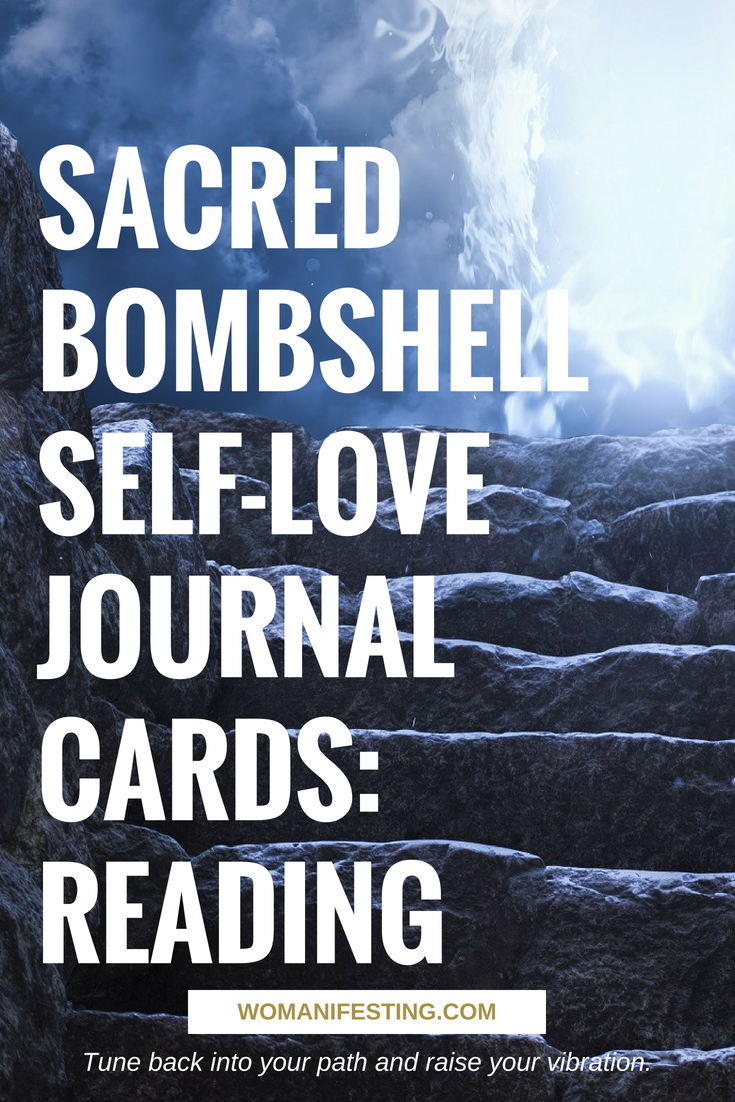Sacred Bombshell Self-Love Journal Cards: Reading