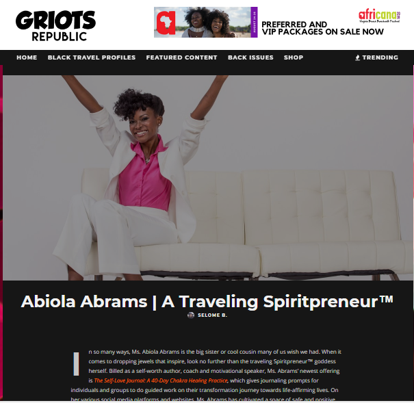 Self-Love Expert -- African American Travel Blog Interview, Laptop Lifestyle