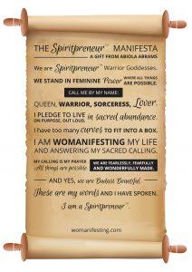 Spiritual Business Entrepreneur Manifesto