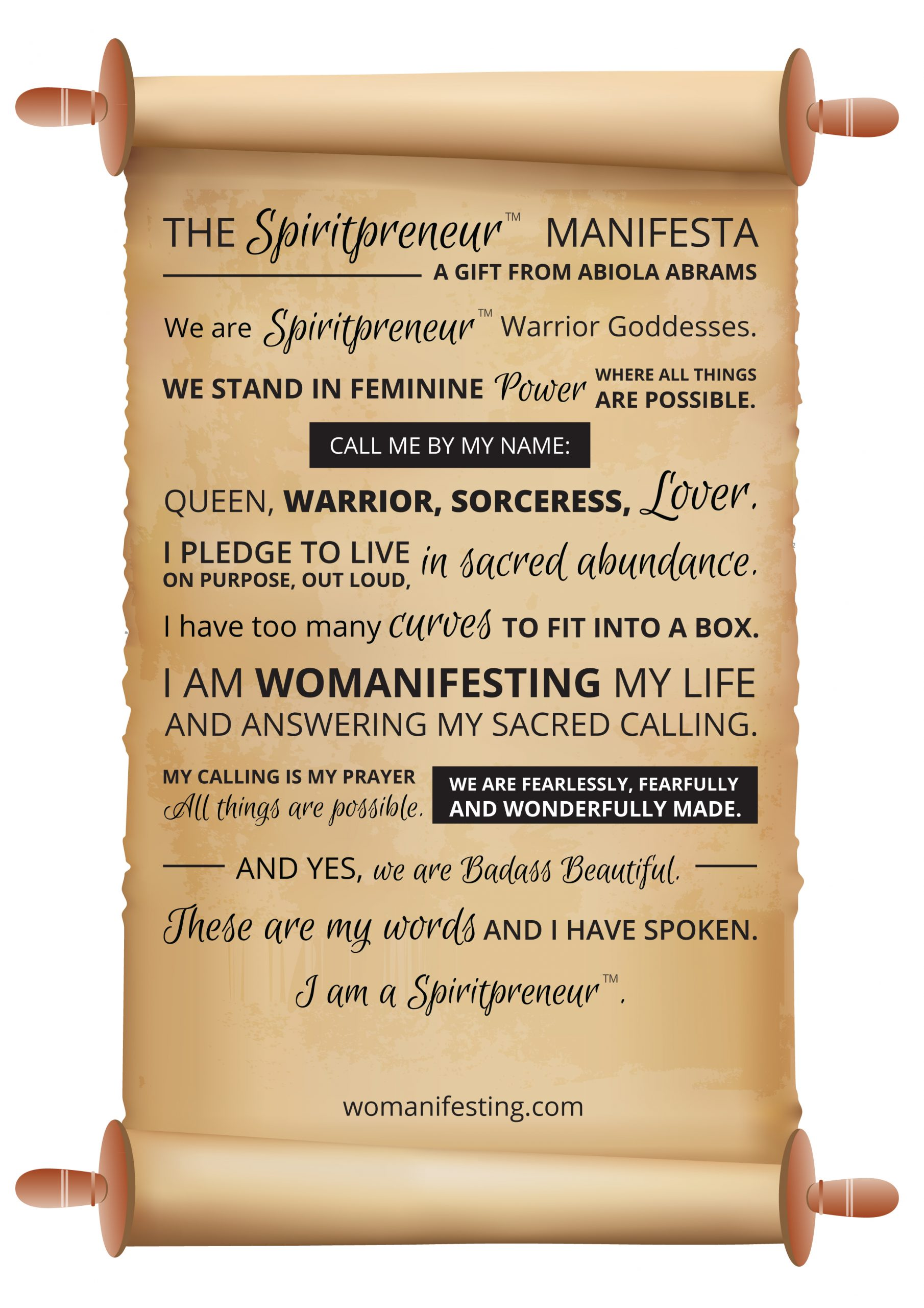 Spiritpreneur Manifesta - Spiritpreneur Manifesto pledge for Spiritual Entrepreneurs