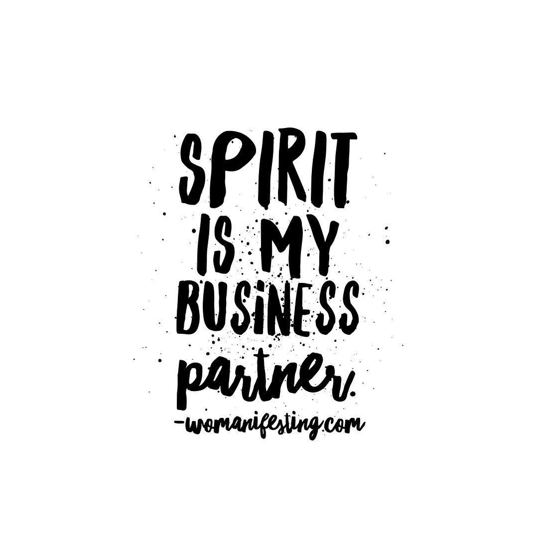 Spirit is my business partner