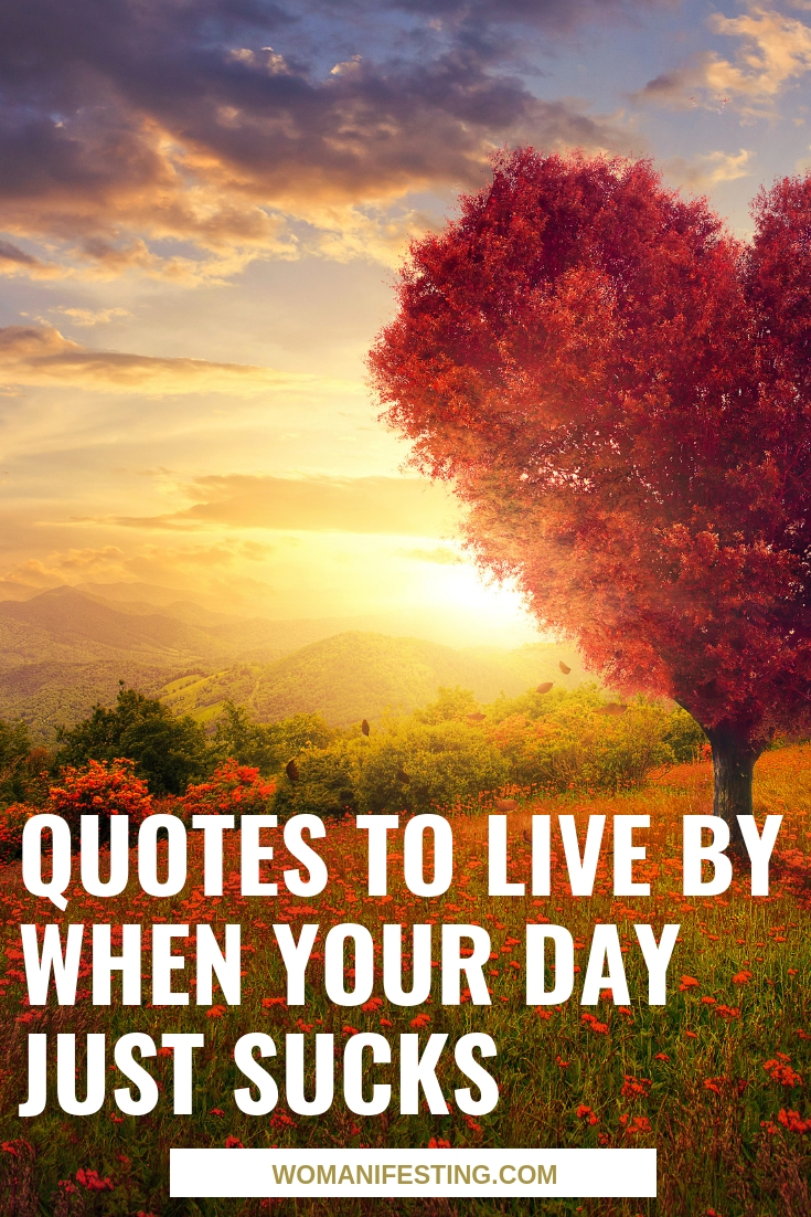 Quotes to Live By When Your Day Just Sucks