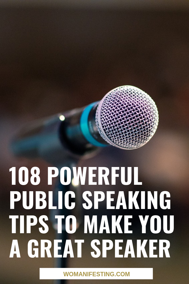 108 Powerful Public Speaking Tips to Make You a Great Speaker