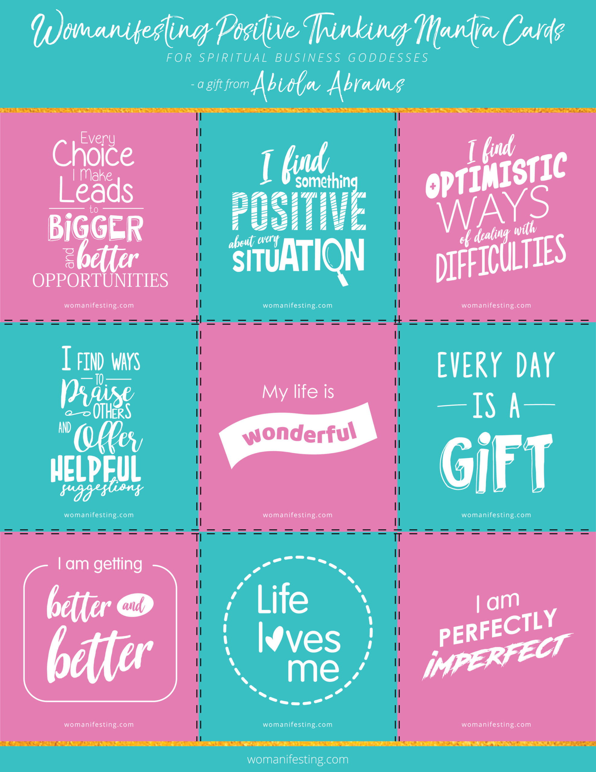 Positivity Mantras Printable Inspiration For You And Your Business