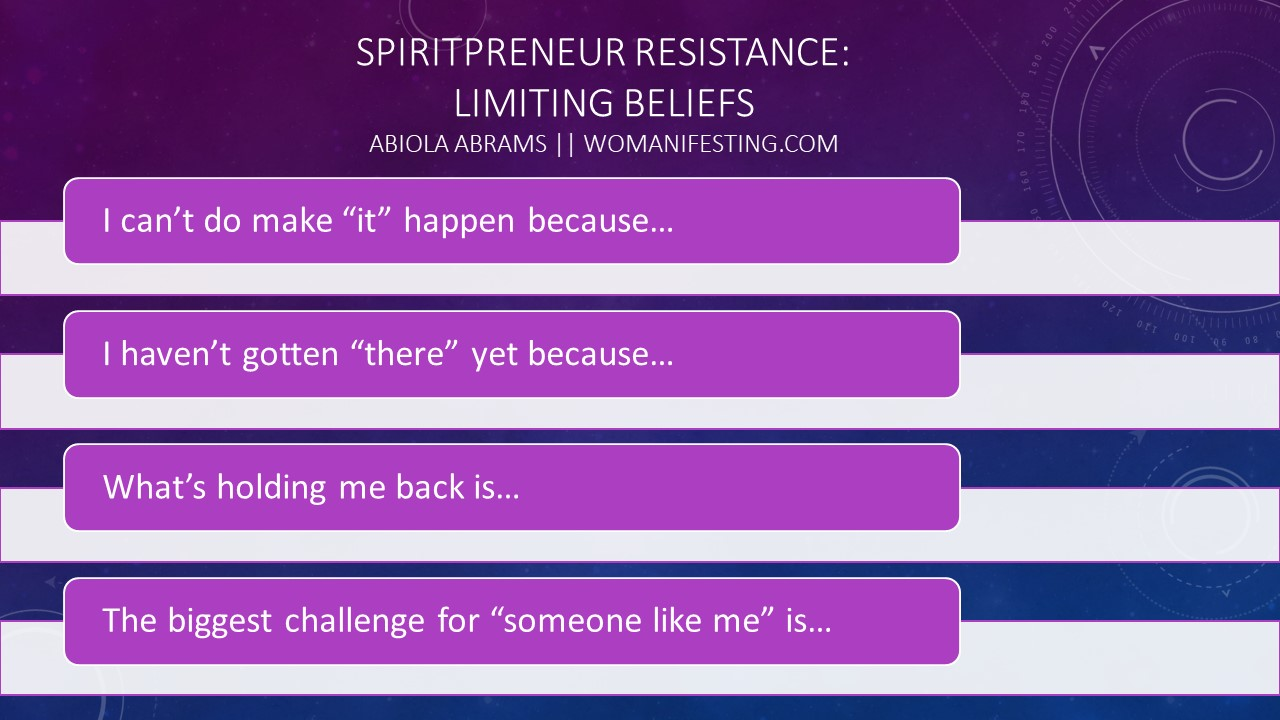 Resistance Mentality: Limiting Beliefs [Worksheet]