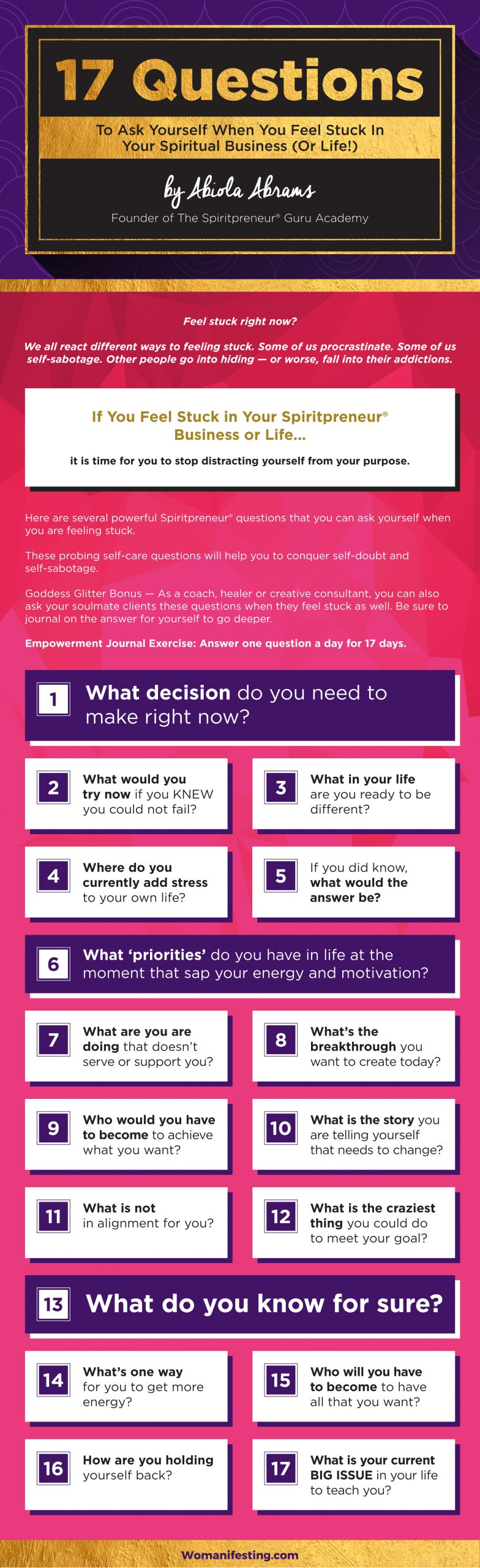 Spiritual Business Questions Infographic