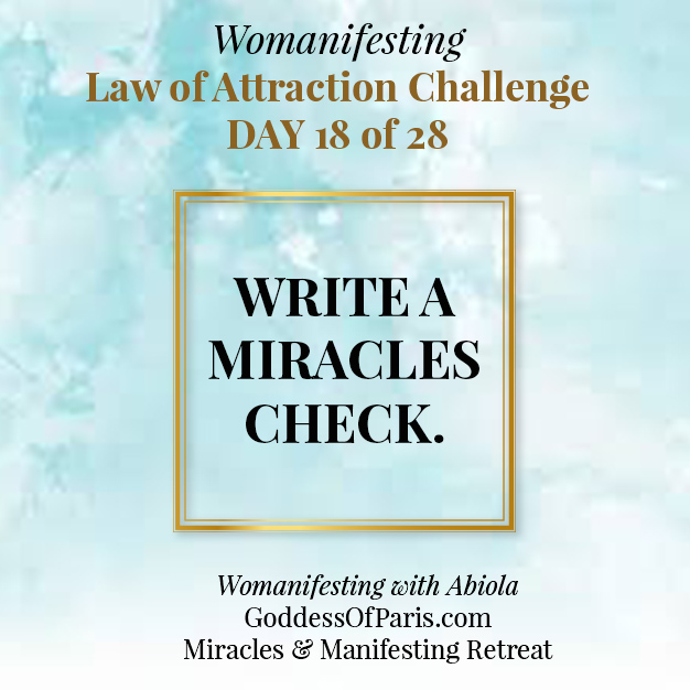 Manifesting! Write an Abundance Miracles Check