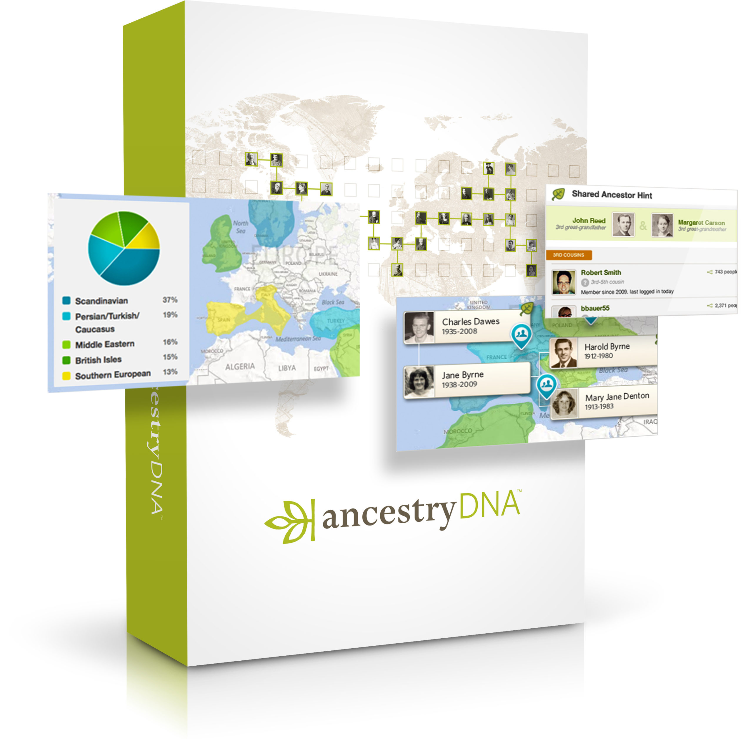 Ancestry DNA is the #1 selling consumer DNA test.* AncestryDNA can trace your roots back to 500+ global regions.* Discover the rich details of your family story with AncestryDNA.* Only AncestryDNA can let you discover the recent migration paths and personally relevant historical details of your ancestors—all of it explorable with an interactive timeline