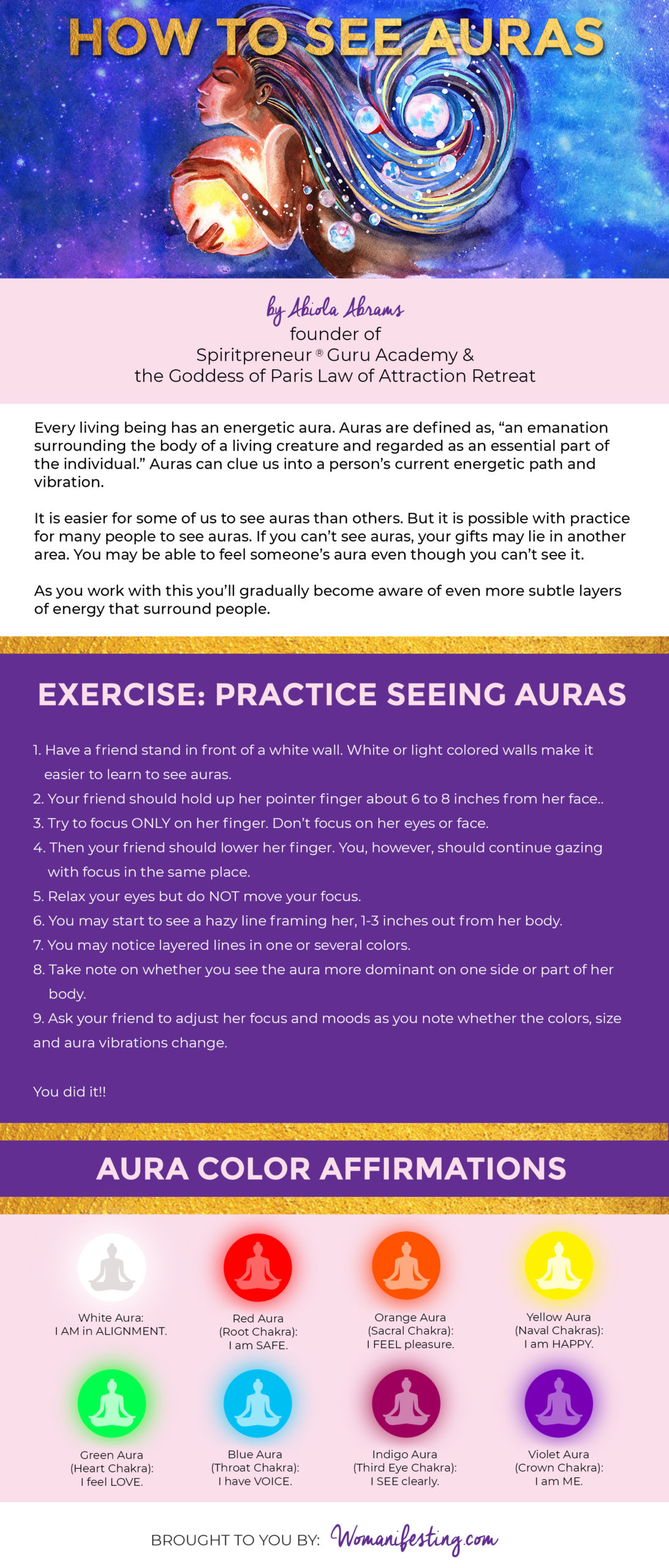 How to See Auras [Infographic]