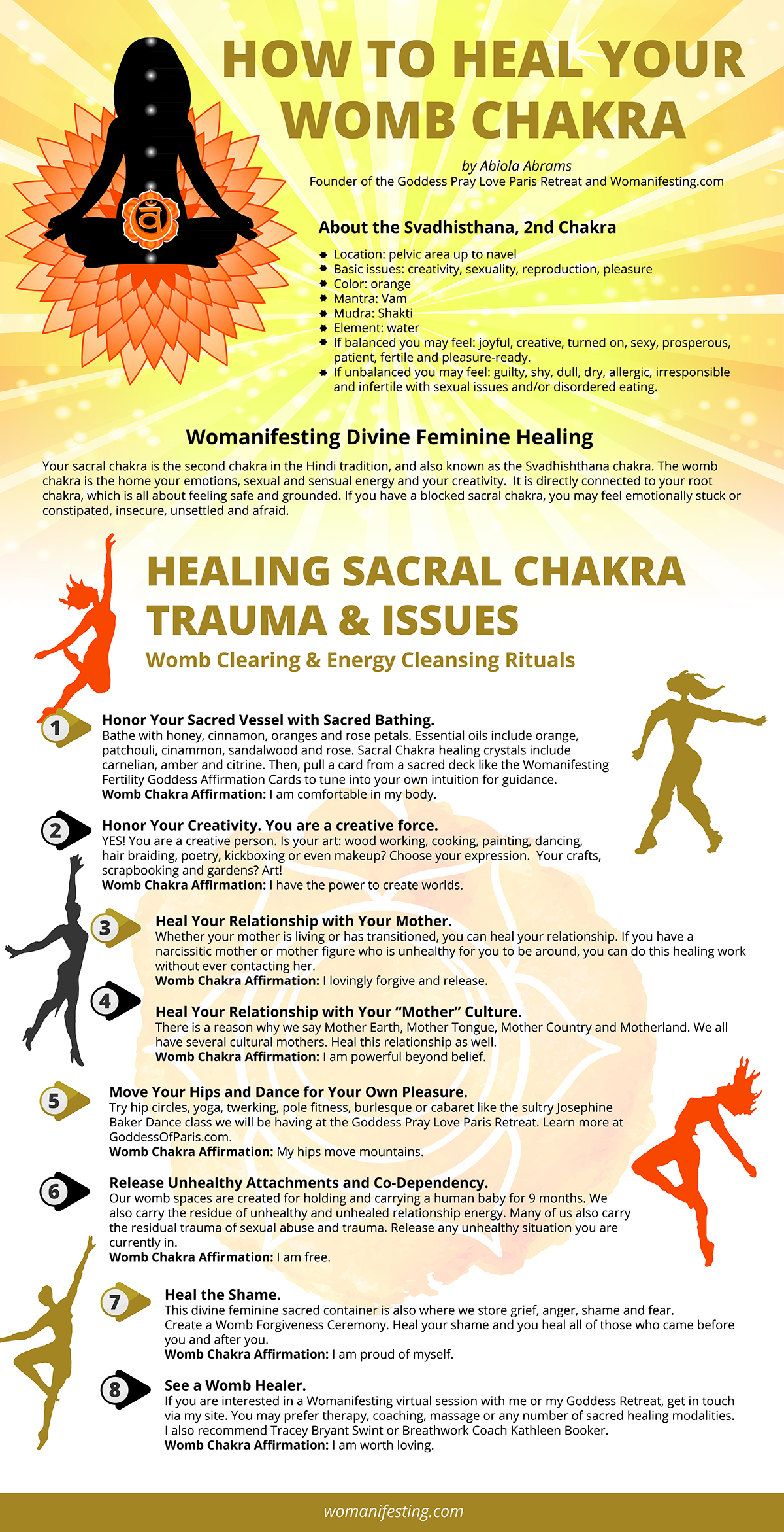 Heal Your Womb Chakra - Infographic