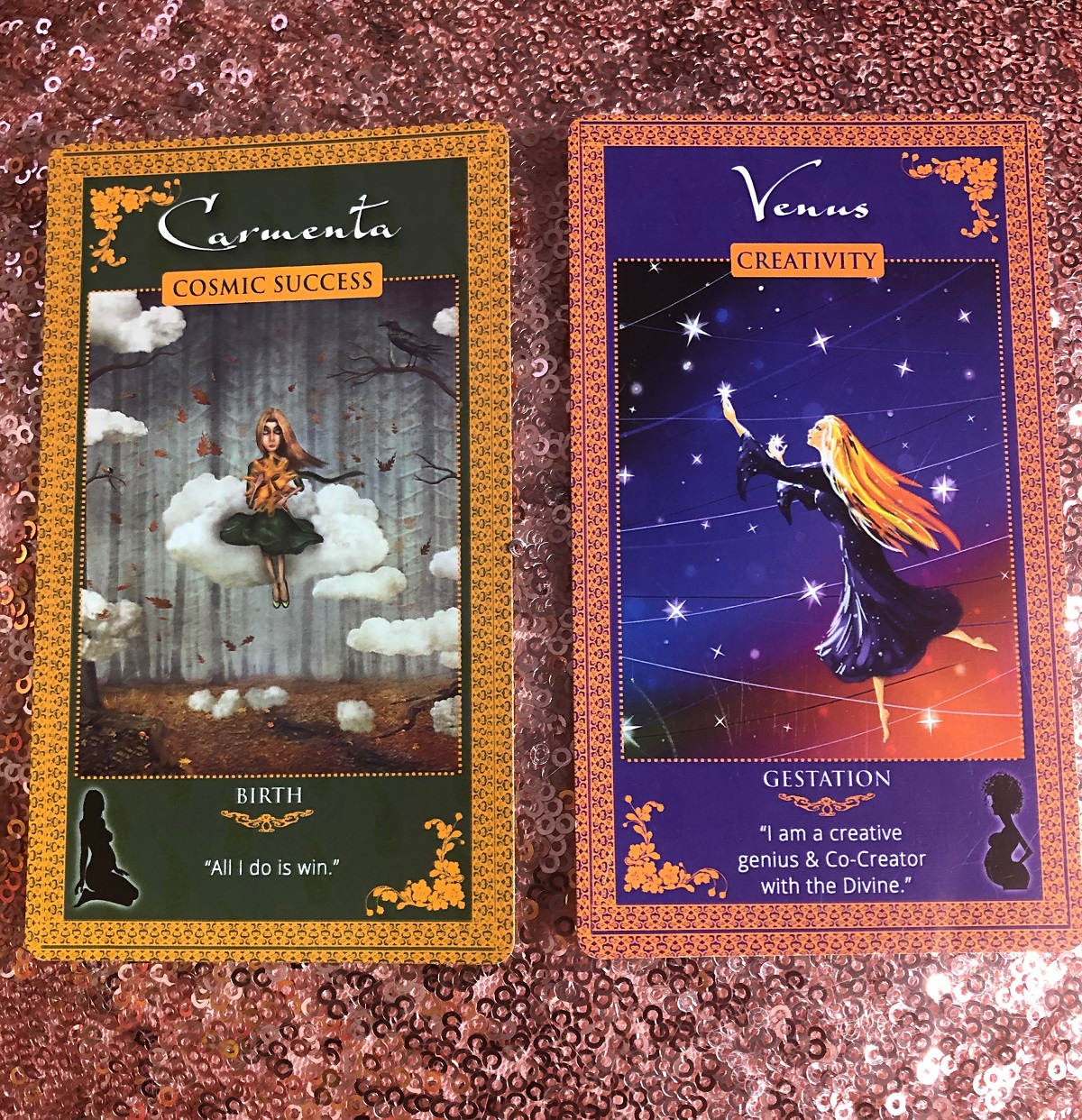 Womanifesting Vibrational Alignment Goddess Affirmation CArds