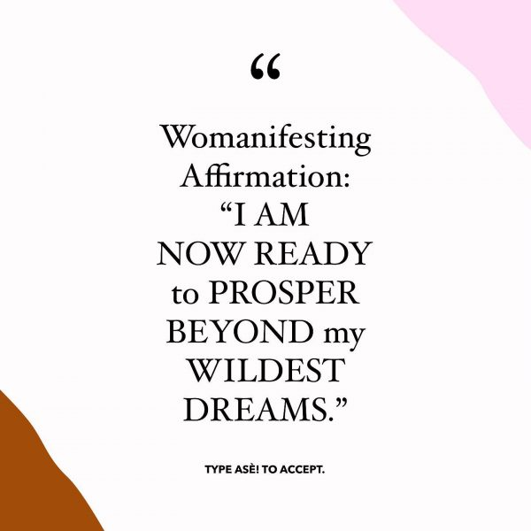 Womanifesting Affirmation I AM NOW READY TO PROSPER BEYOND MY WILDEST DREAMS Inspirational Quotes
