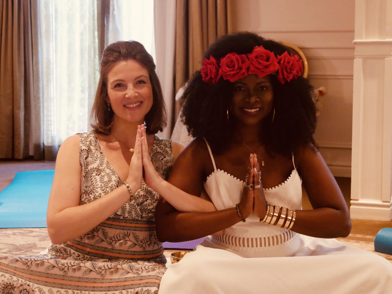 Meditation - Doris and Abiola in Chantilly France Goddess Retreat
