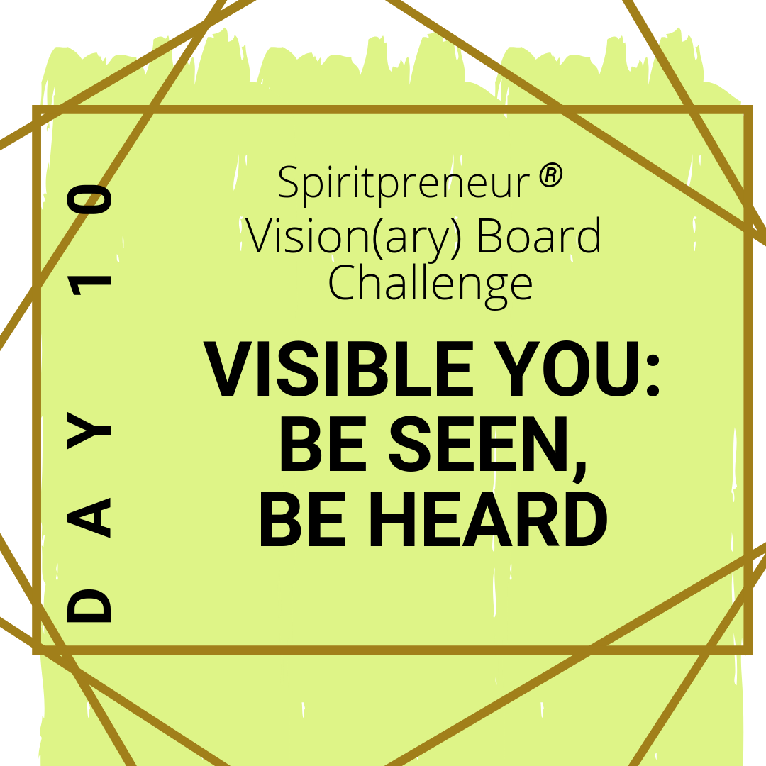 Visibility Coaching - Be Seen Be Heard