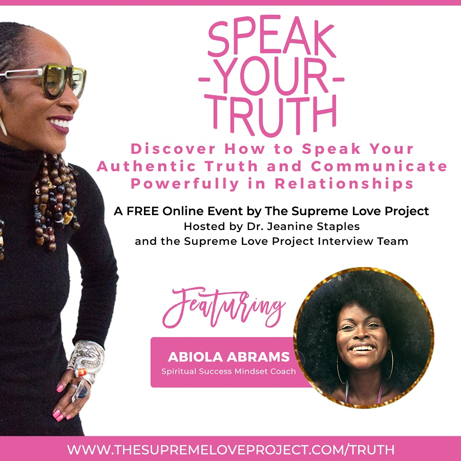 Speak Your Truth Online Conference Abiola Abrams