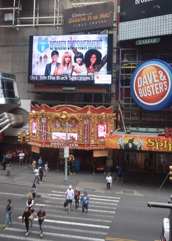 Times Square Billboard - Women's Empowerment Event Abiola Lucinda Cross
