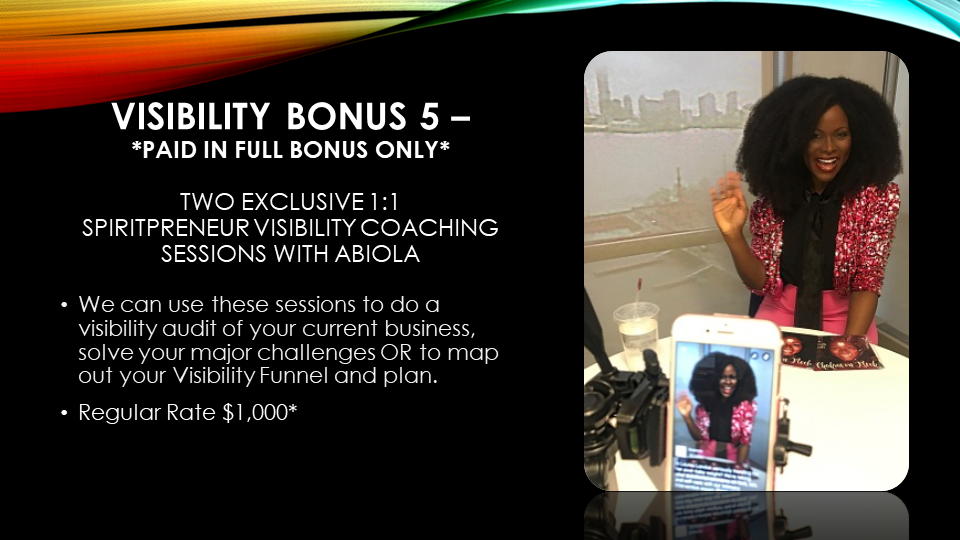 Spiritpreneur Visibility Bonus 5