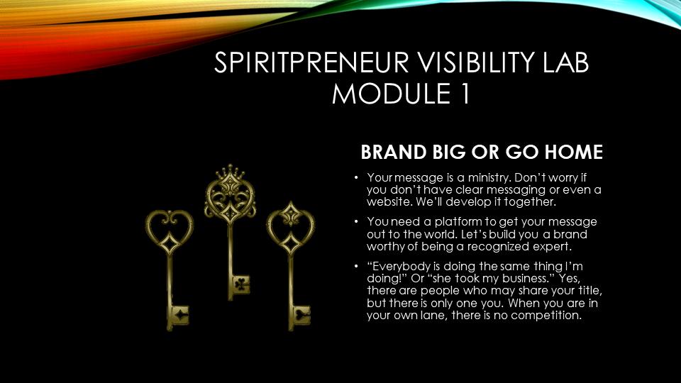 Spiritpreneur Visibility Mindset Module 1