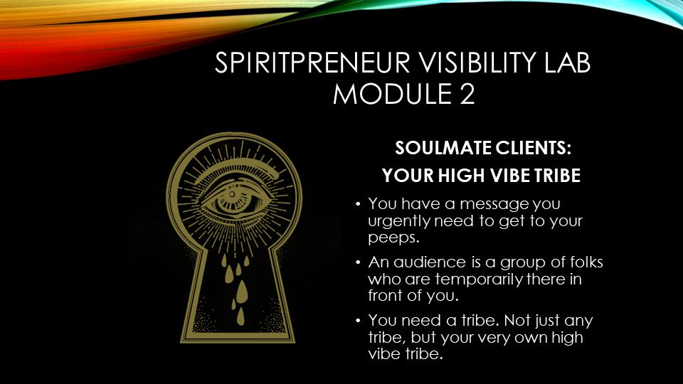 Spiritpreneur Visibility Mindset Module 2