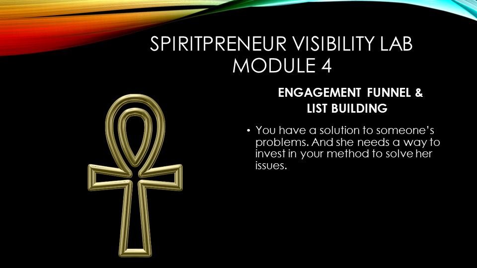 Spiritpreneur Visibility Mindset Module 4