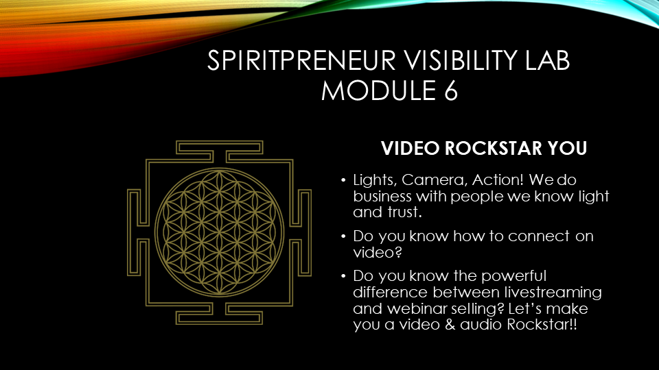 Spiritpreneur Visibility Mindset Module 6