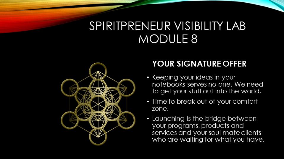 Spiritpreneur Visibility Mindset Module 8