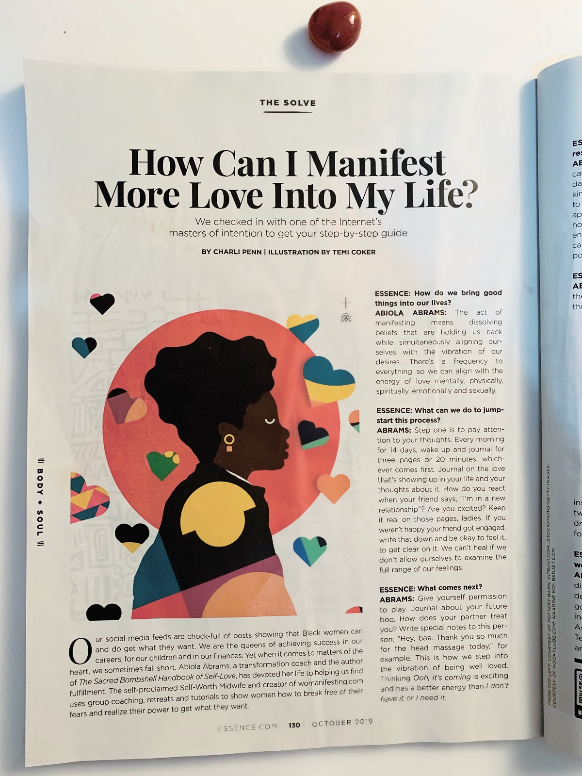 Abiola Abrams - Essence Magazine Manifesting Law of Attraction