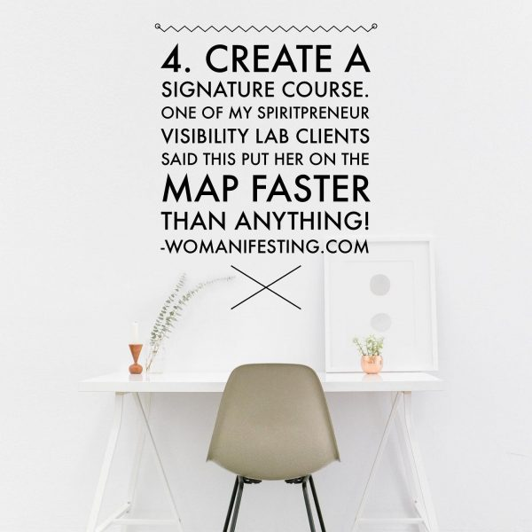 Create a signature course