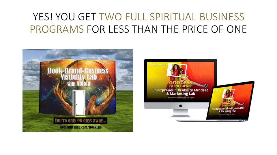 Spiritual Entrepreneur to Author Coaching Program