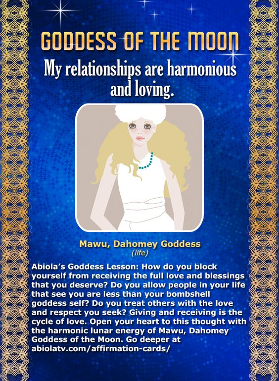 Mawu - African Goddess Affirmation Cards