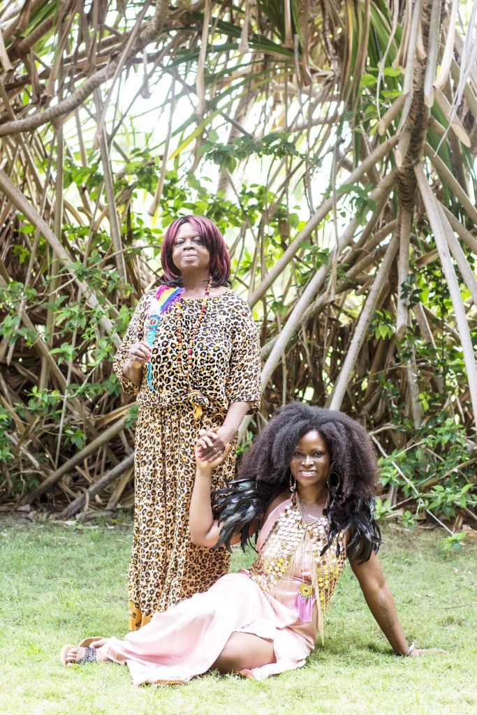 Mommy and Abiola in Belize