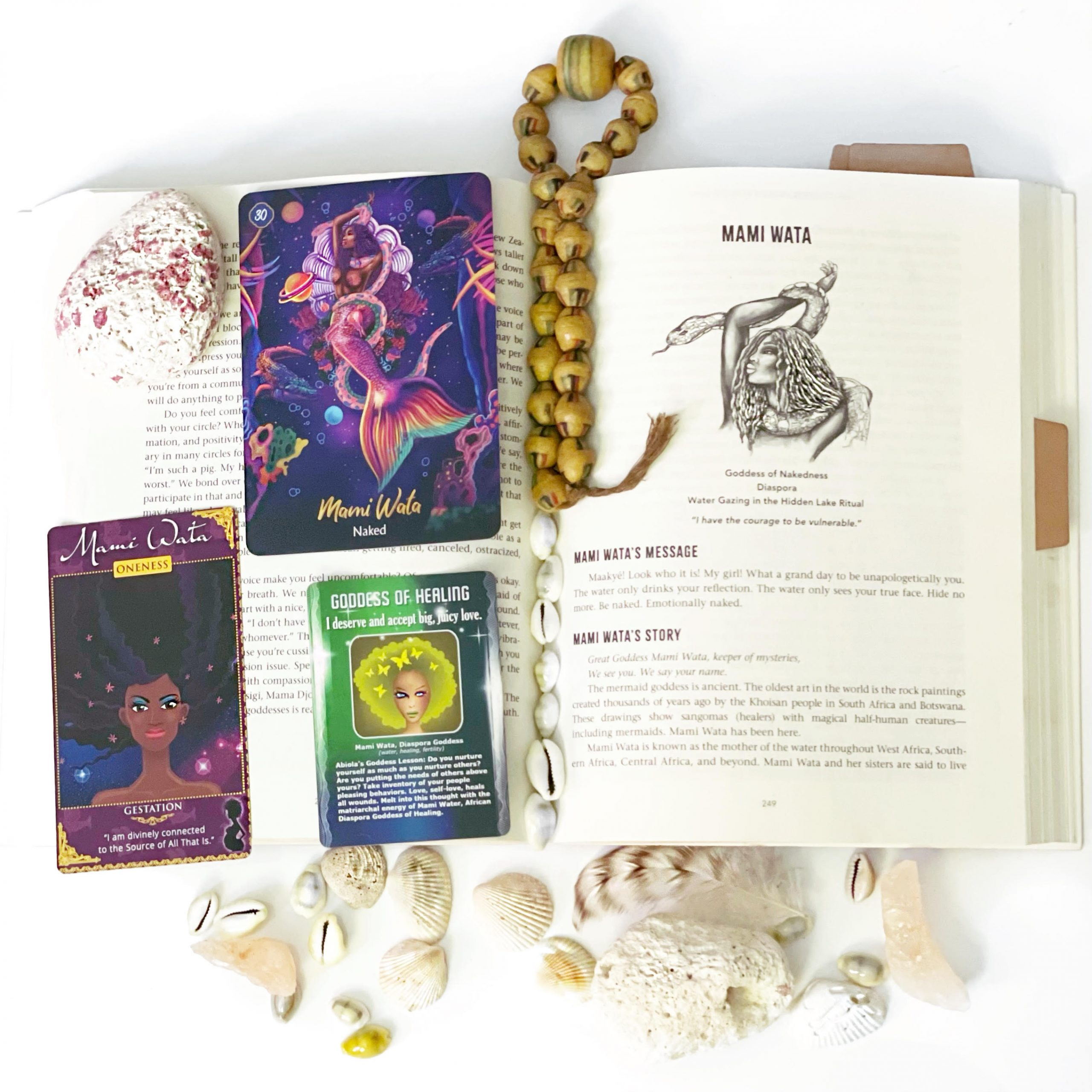 African Goddess Initiation Book with Oracle Cards by Abiola Abrams