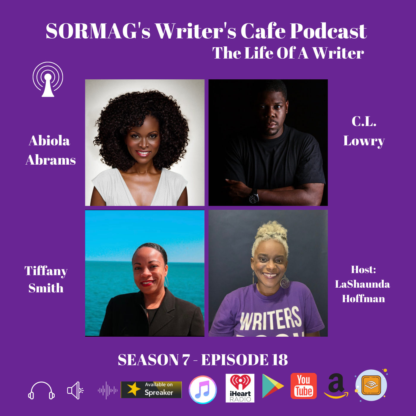 SORMAG's Writer's Café Podcast: Meet Abiola Abrams, C.L. Lowry, Tiffany Smith [Audio]