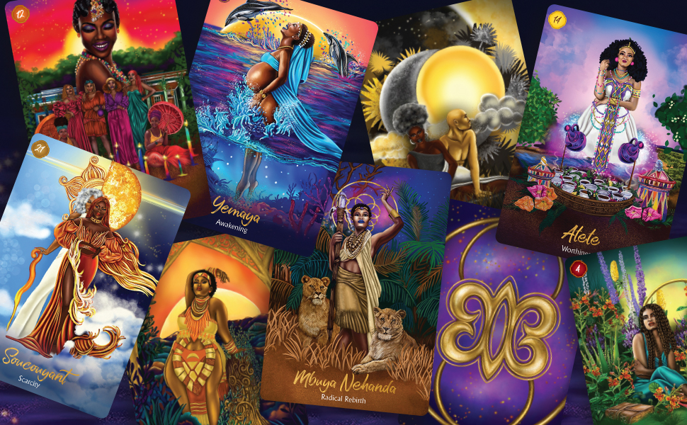African Goddess Rising Oracle Cards by Abiola - Hay House